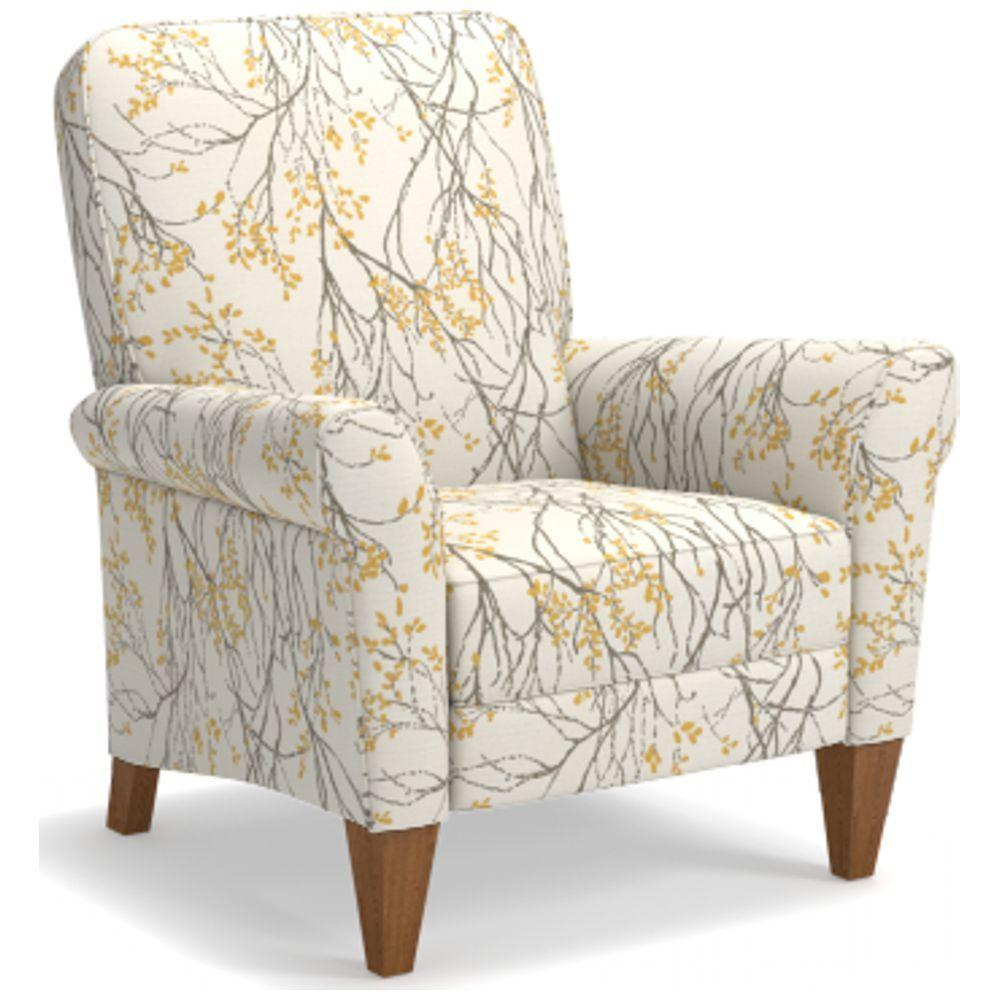 Custom Fabric Accent Chairs.Lazboy Haven High Leg Recliner Custom Fabric Marigold G151545