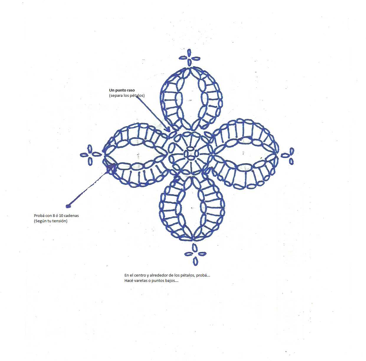 Crochet Flower - Chart | accesorios para el pelo | Pinterest ...