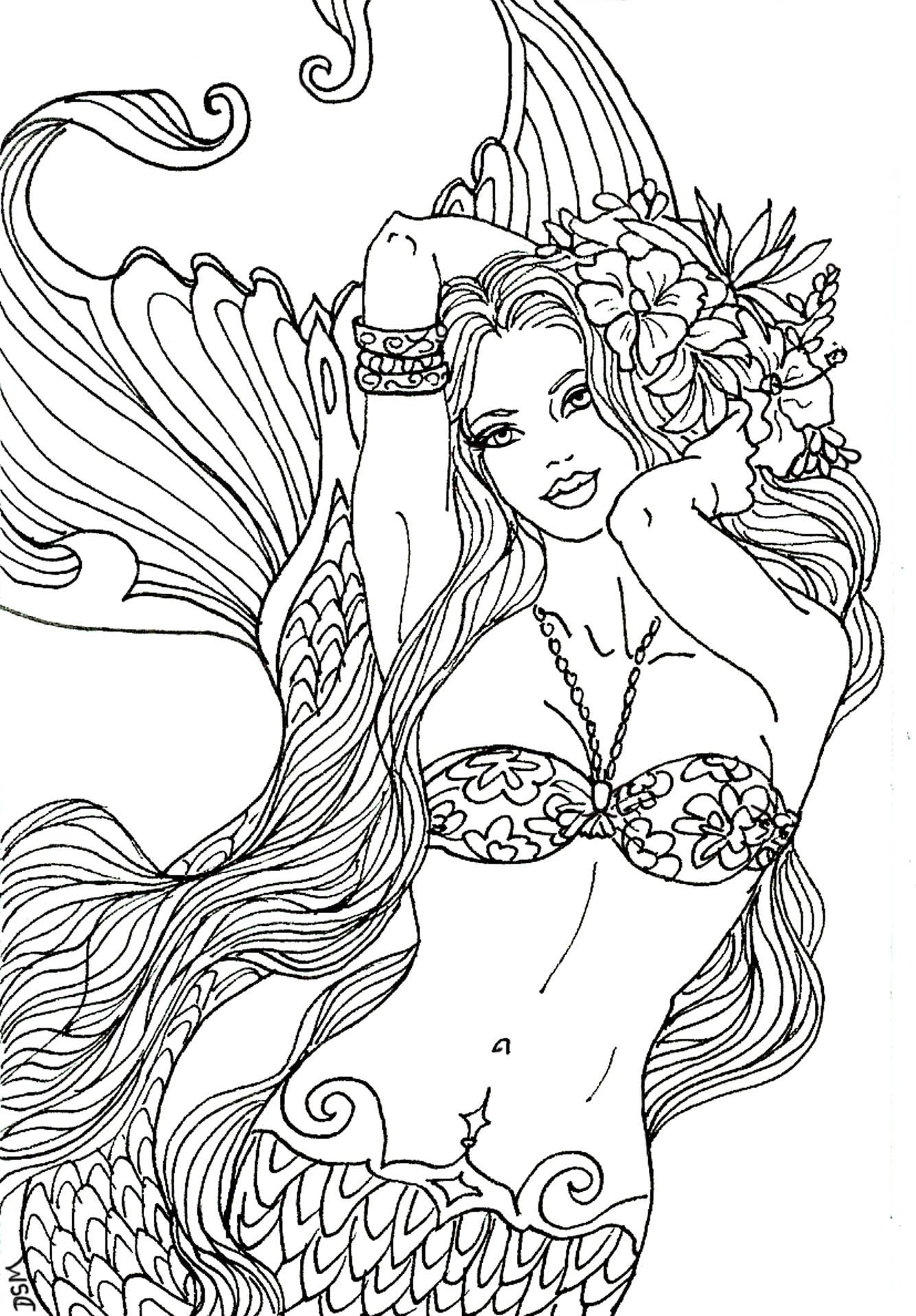 Flower Mermaid by Artist Diane S Martin Mermaid Fantasy Myth ...