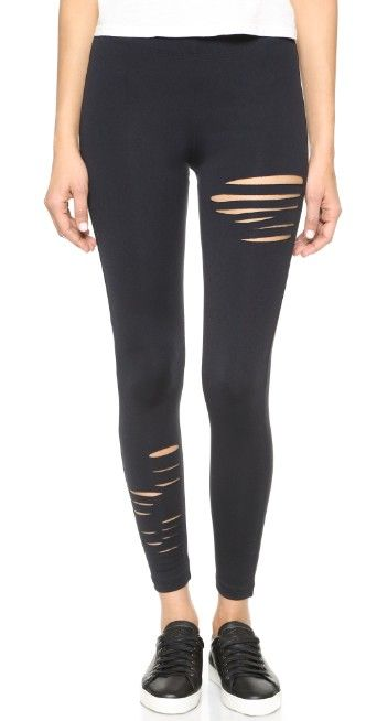 David Lerner Half Ripped Leggings | SHOPBOP