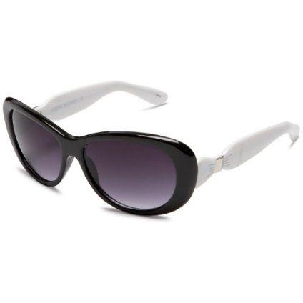 Steve Madden Women`s S1035 Resin Sunglasses,Black Frame/Smoke Lens ...