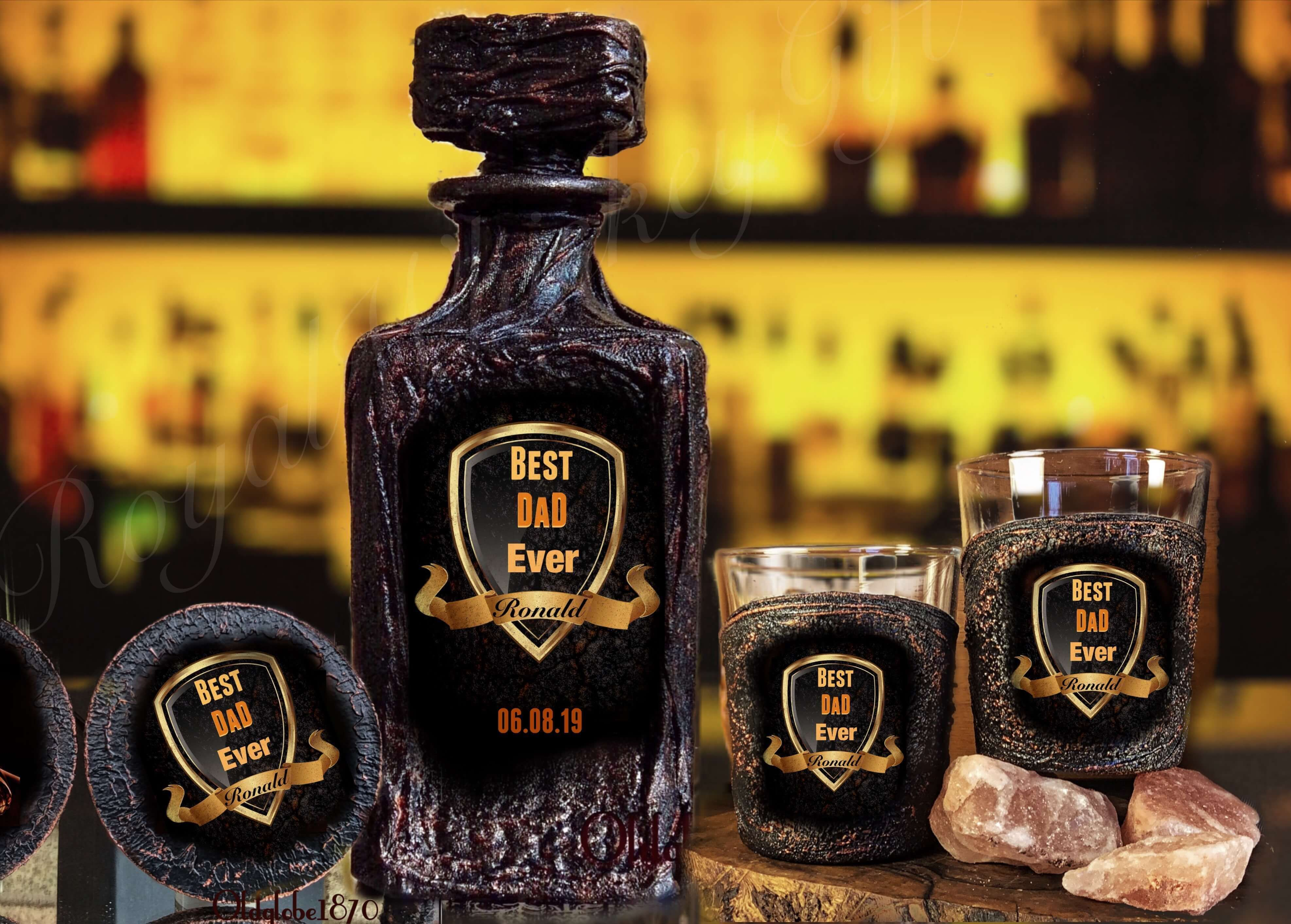 Best dad ever whiskey set i love custom orders want