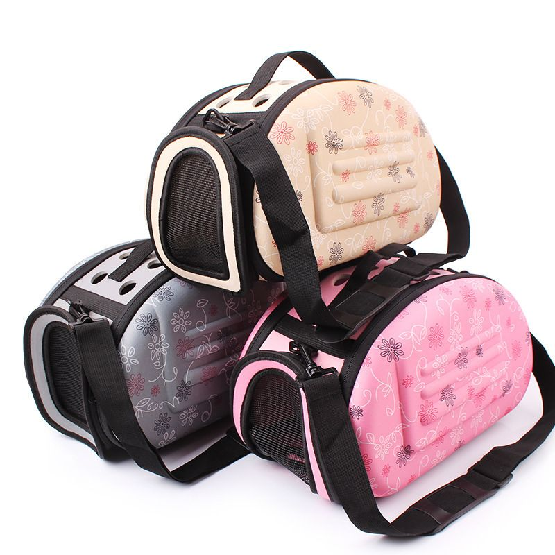 Foldable EVA Pet Carrier Puppy Dog Cat Outdoor Travel Shoulder Bag For Small Pets Soft Kennel