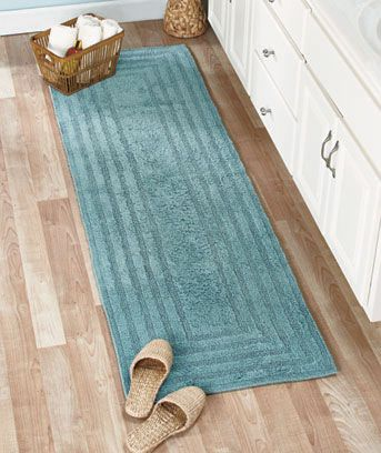 Pamper Your Feet With A Soft Reversible Cotton Bath Rug Or - Bath runner 72 for bathroom decorating ideas