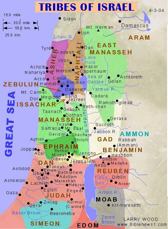 Map Of Israel Interesting Bible Mapping Scripture Study Bible