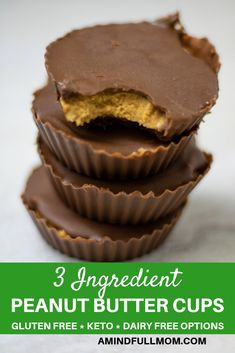 Homemade Peanut Butt Homemade Peanut Butter Cups A Homemade Version Ofa Reeses Peanut Butter Cup This Recipe Is Made With 3 Simple Clean Ingredients For A