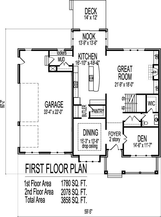 2 story architect home 4 bedroom open floor plan front
