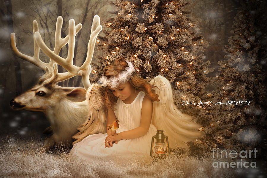 Christmas angels paintings | Christmas Angel by Babette Van den ...