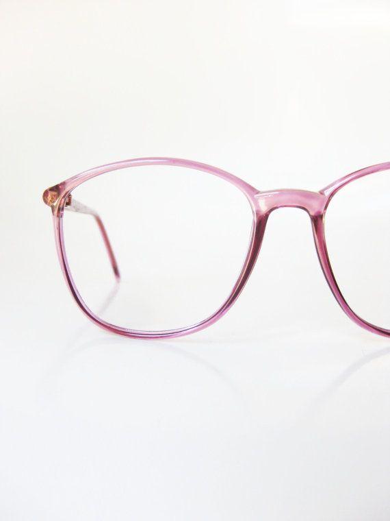 d68493cf8 Vintage Lacoste Eyeglasses 1980s Womens Glasses Eyeglass Frames Pink  Lavender Mauve Pastel Indie Hipster Round Wayfarer