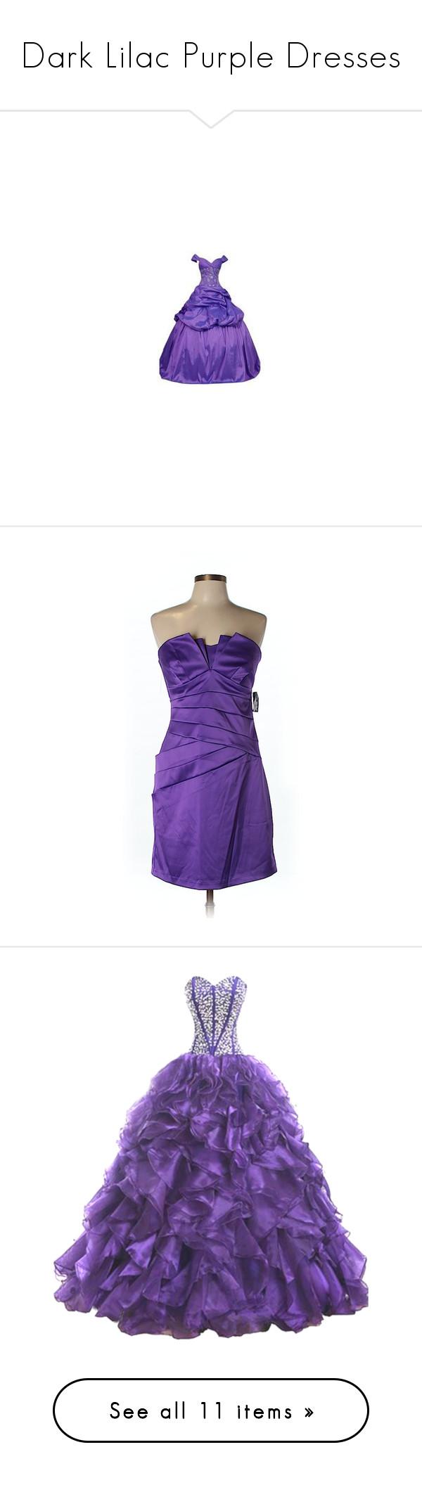 Dark lilac purple dresses