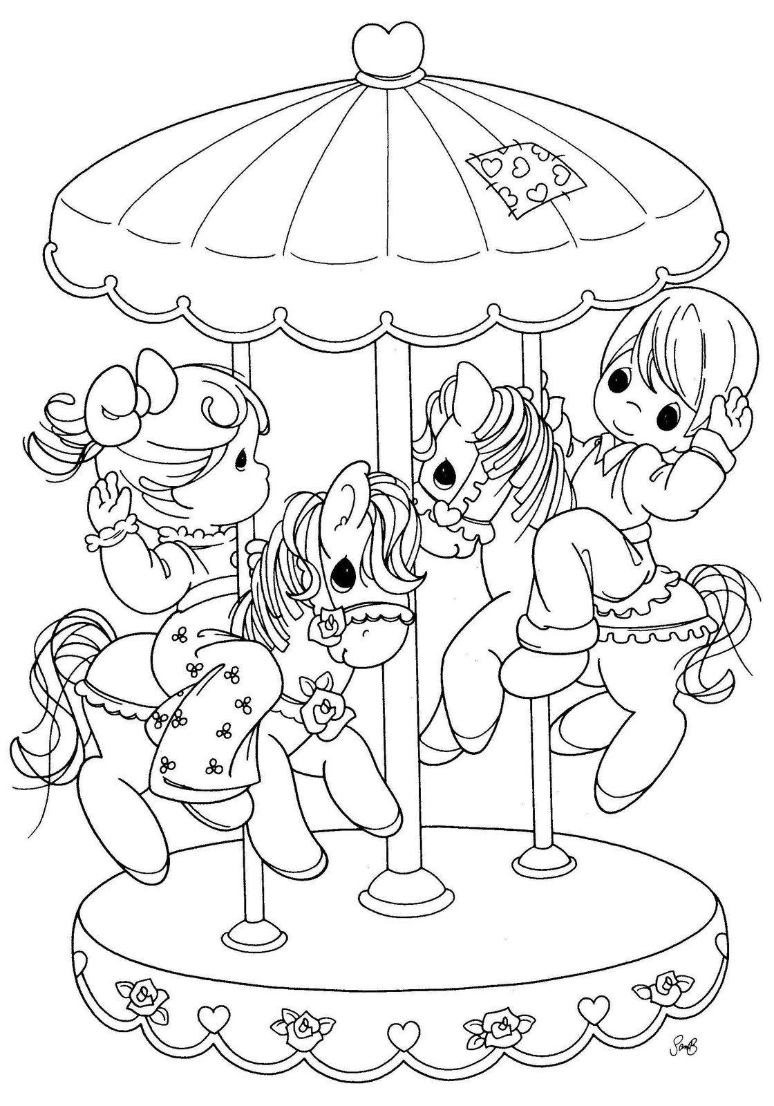 Carousel Horse Coloring Pages | GIOSTRA | coloring pages | Pinterest ...