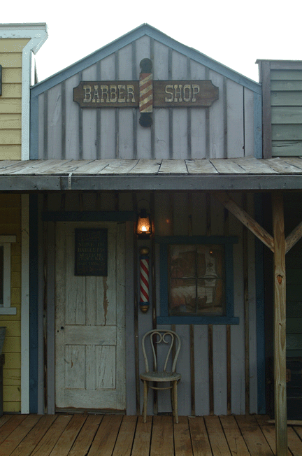 Barber Shop Old Western Towns Town Building Old West Town