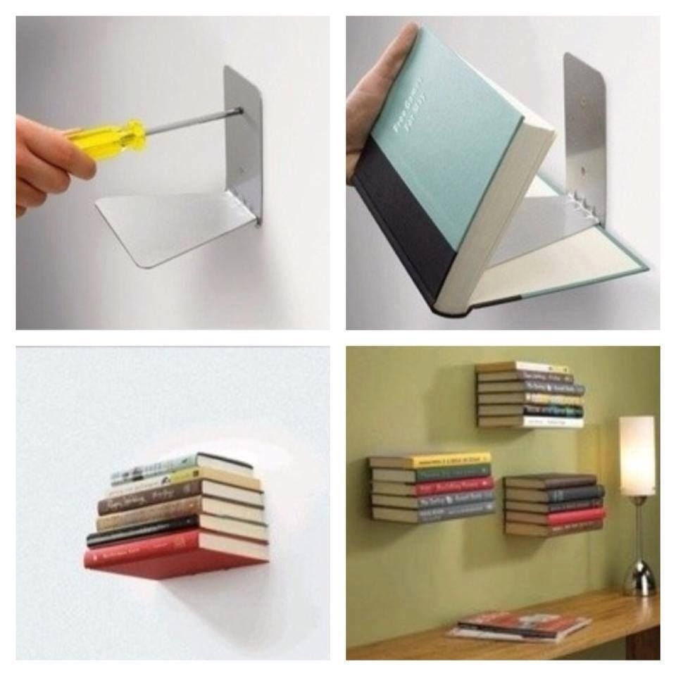 DIY Invisible Bookshelf Diy Craft Crafts How To Tutorial Home