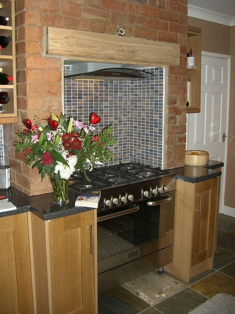 Recessed cooker in brick chimney breast cooker chimneys for Kitchen chimney design