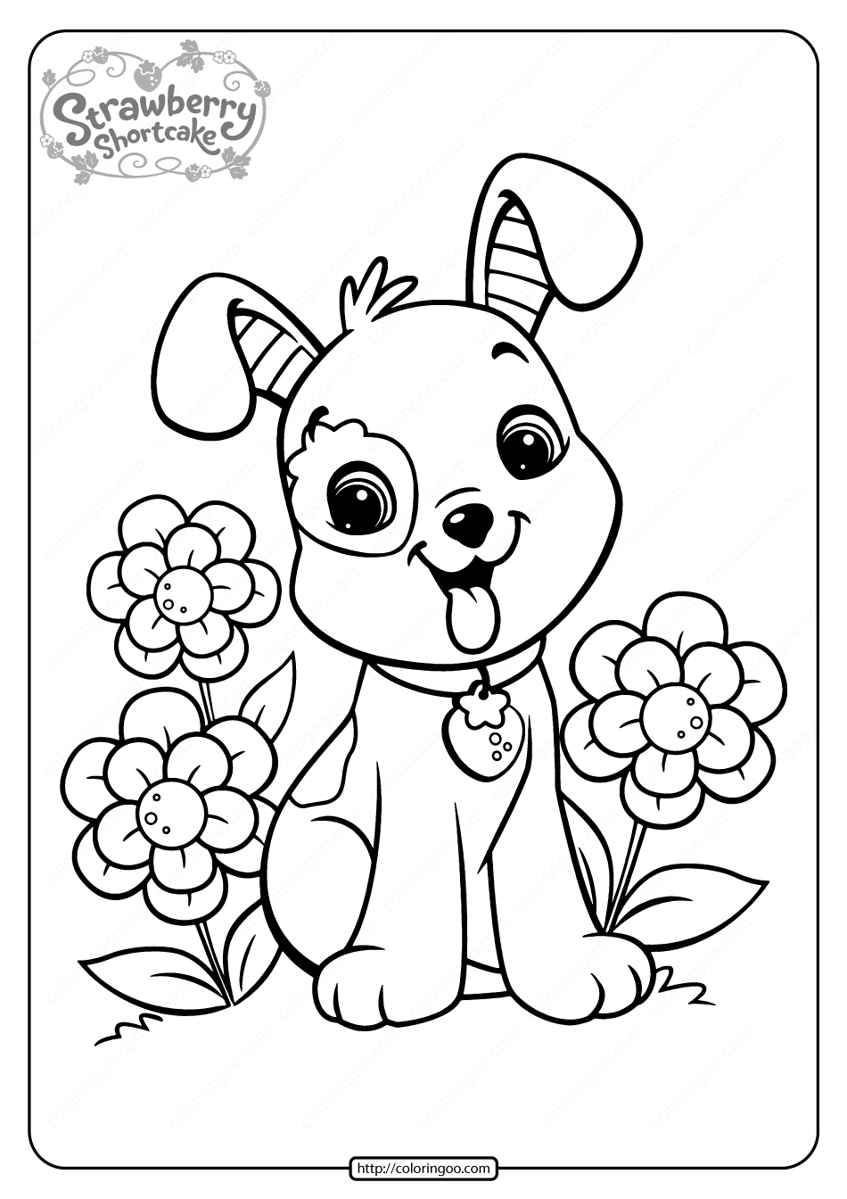 Free Printable Strawberry Pupcake Coloring Page Puppy Coloring Pages Dog Coloring Page Cute Coloring Pages