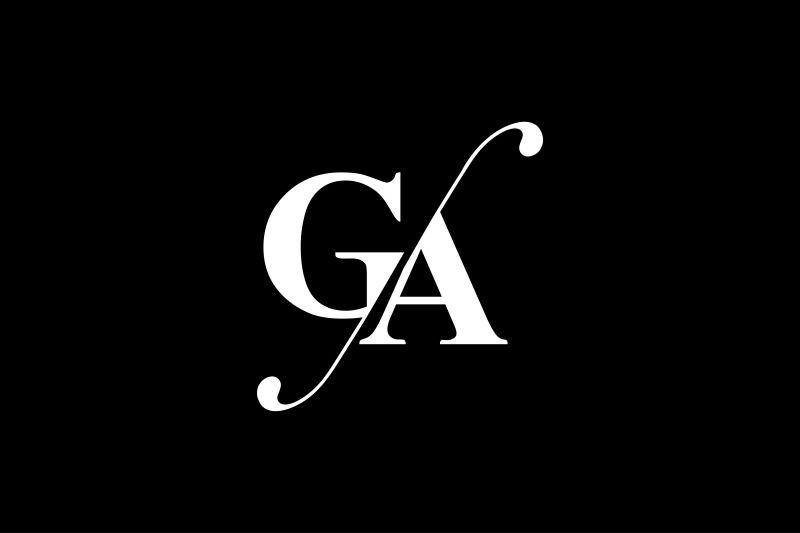 Ga Monogram Logo Design By Vectorseller Thehungryjpeg Com In