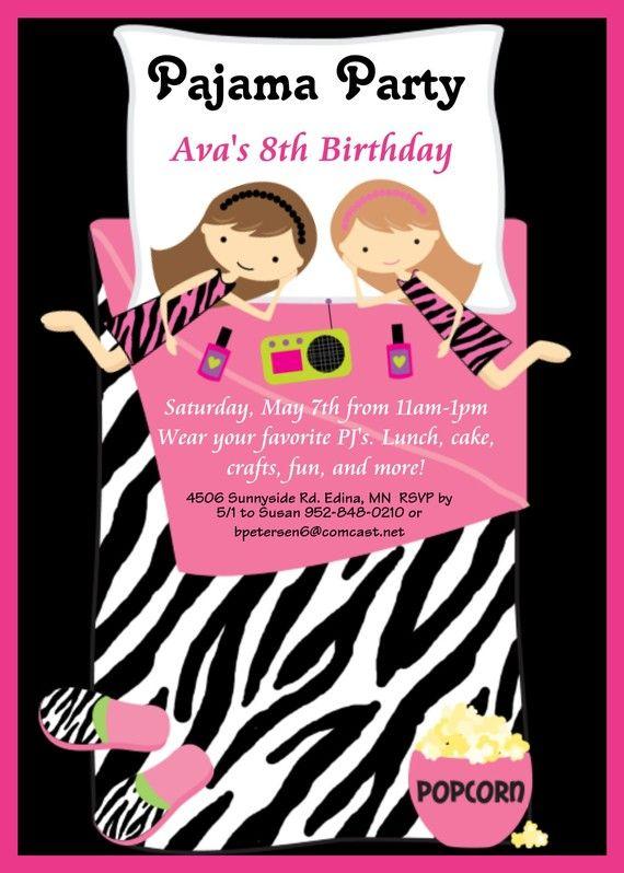 Pajama Party Birthday ...