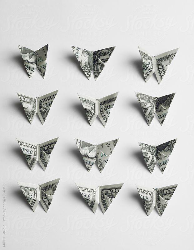 Money Twist Tie Butterfly - Make-Origami.com | 800x621