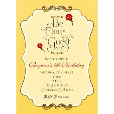 be our guest printable invitations Google Search Beauty and the