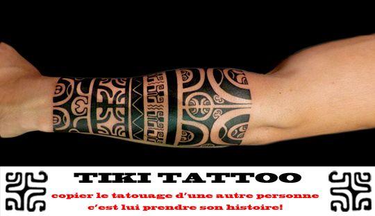 tatouage polynésien avant bras homme
