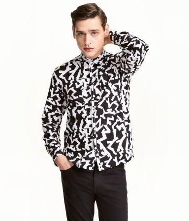 bfeecdf4d1874 Camisa estampada de algodón