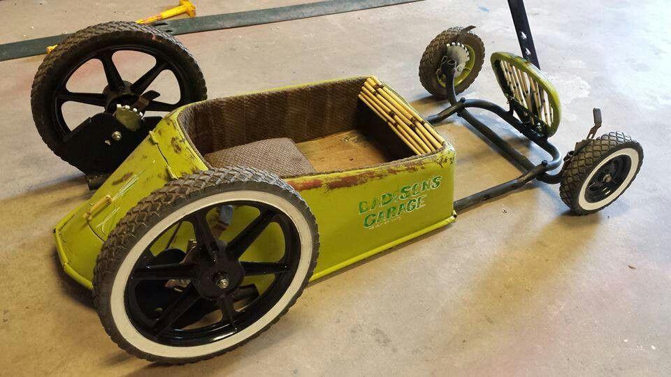how to make a go kart look like a car