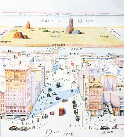 New Yorkers Map Of The World.Saul Steinberg Saul Steinberg S New Yorker Map Of The World New
