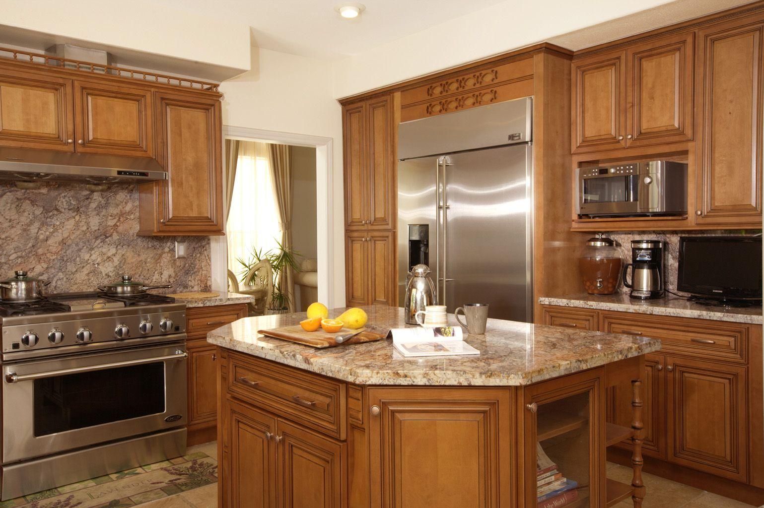 North American Maple Coffee Glaze Color Kitchen Cabinets