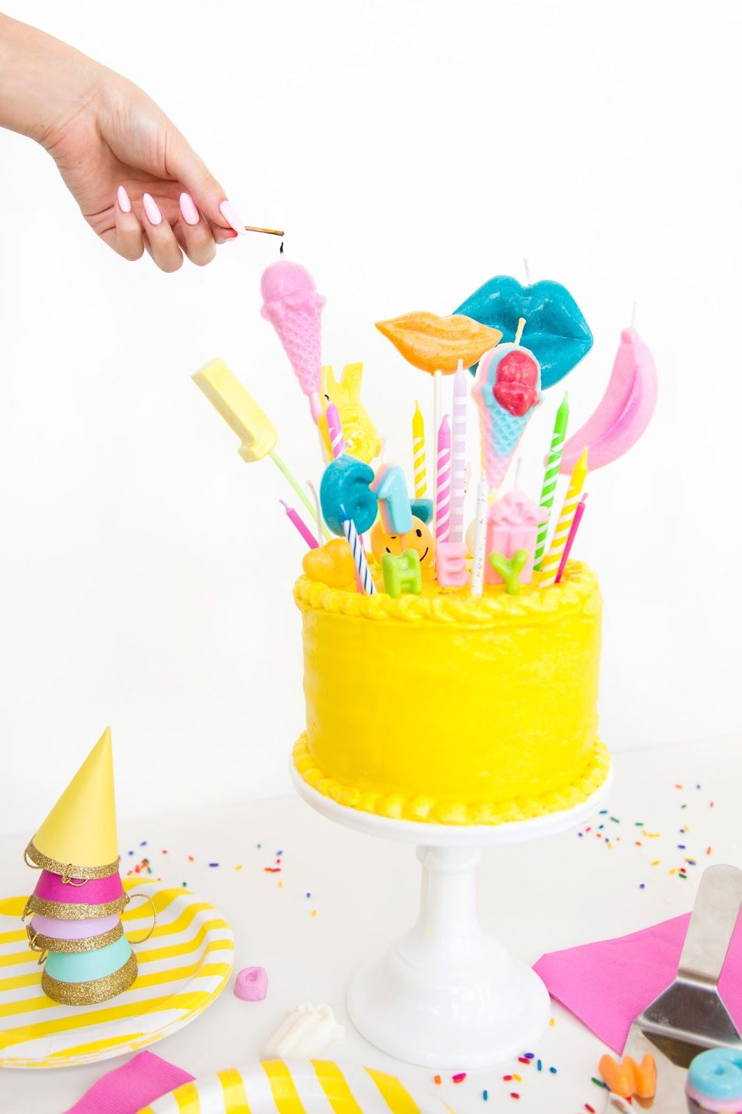 Shaped DIY Birthday Candles!   On this day we become legendary ...