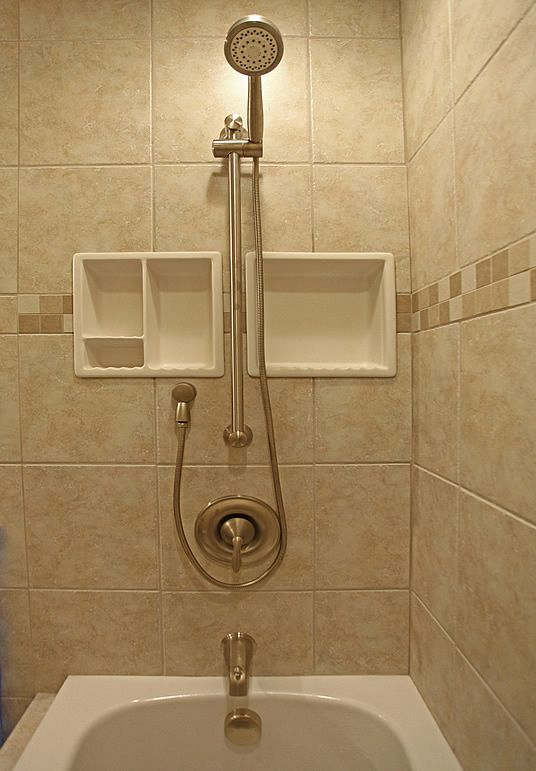 Bathroom Shampoo Soap Shelf Dish Shower Niche Recessed