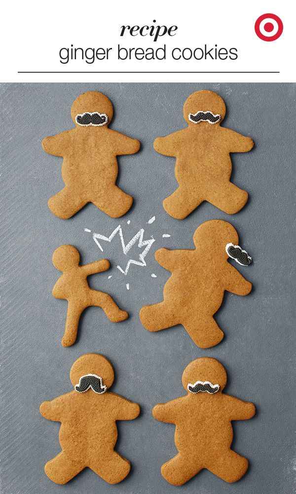 Gingerbread Men And Mustaches Yes Please Amp Up Your Christmas