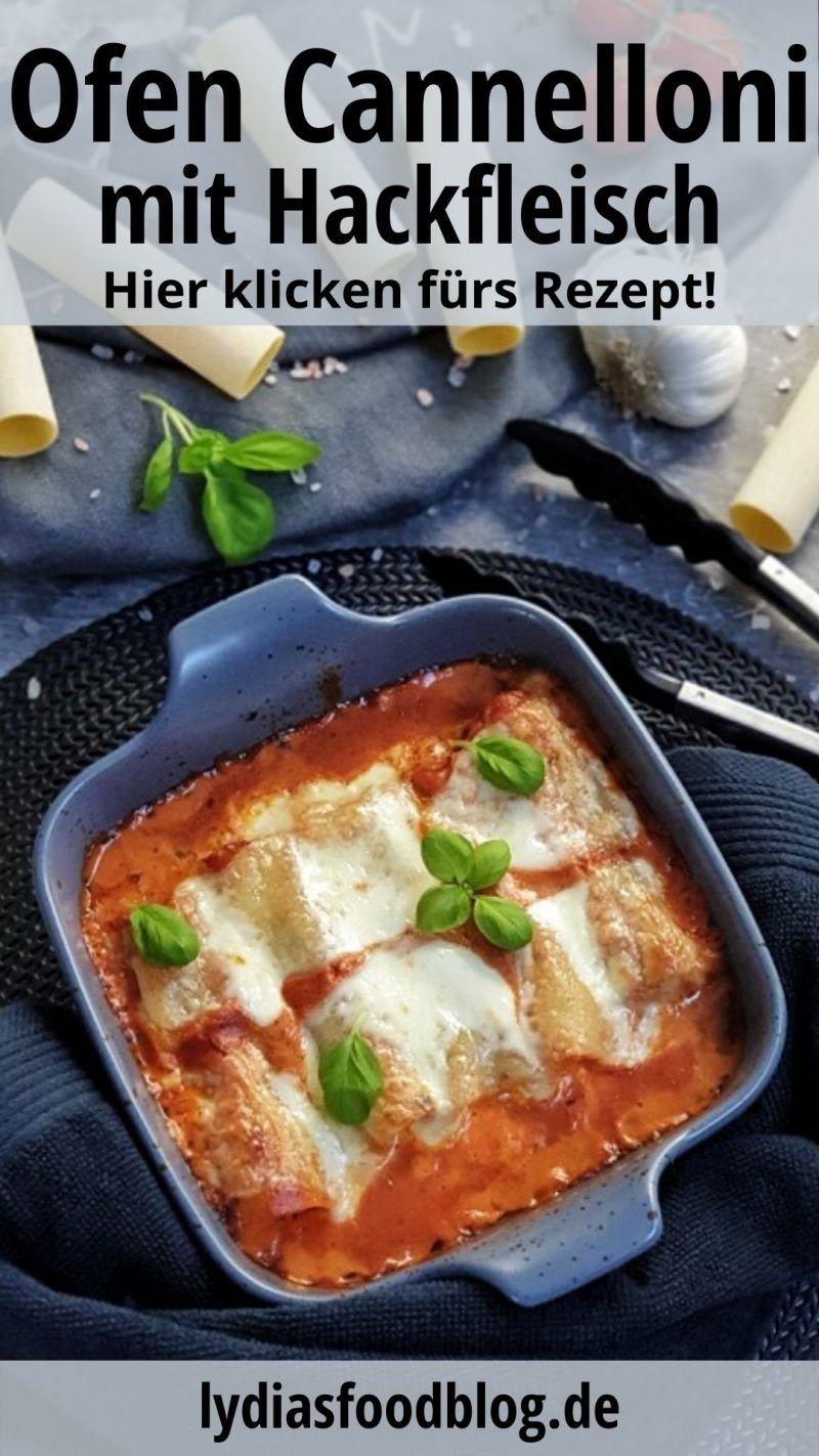 Cannelloni mit Hackfleisch und Mozzarella aus dem Ofen, Rezept