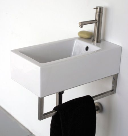 10 Easy Pieces: Wall Mounted Guest Bath Sinks   Remodelista
