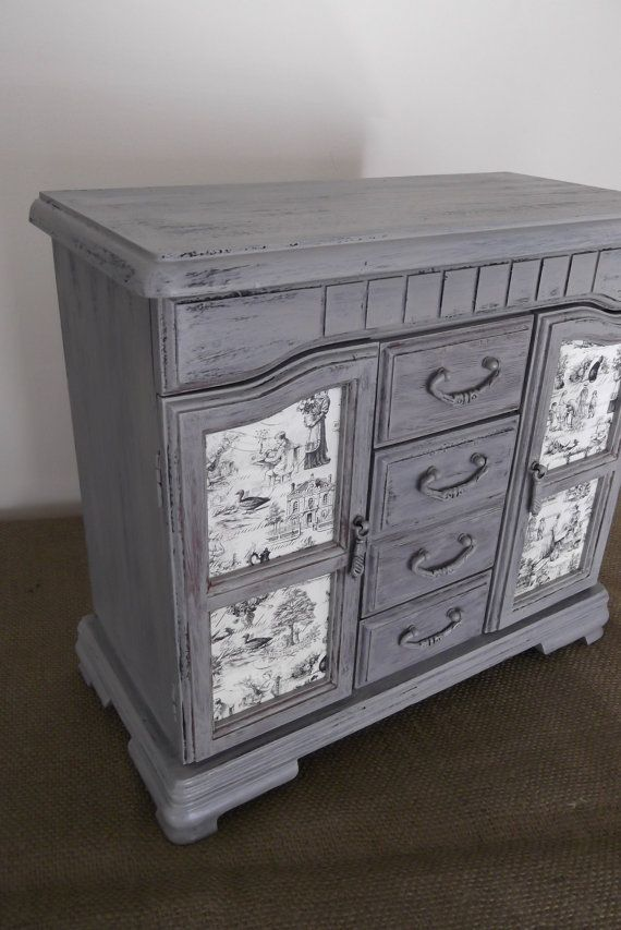 French Barnwood Distressed Grey Jewelry Box With By Eweniques