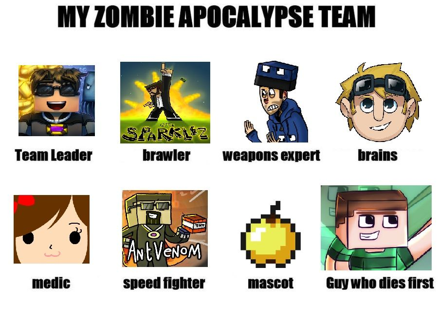 Team Crafted Memes Zombie Apocalypse Team Craft Memes Teams
