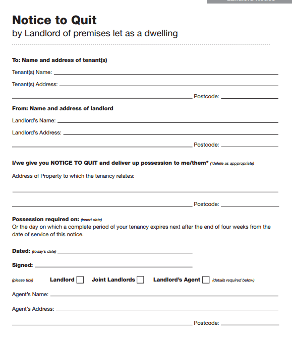Eviction Notice Templates  Lease Termination Letters  Rental