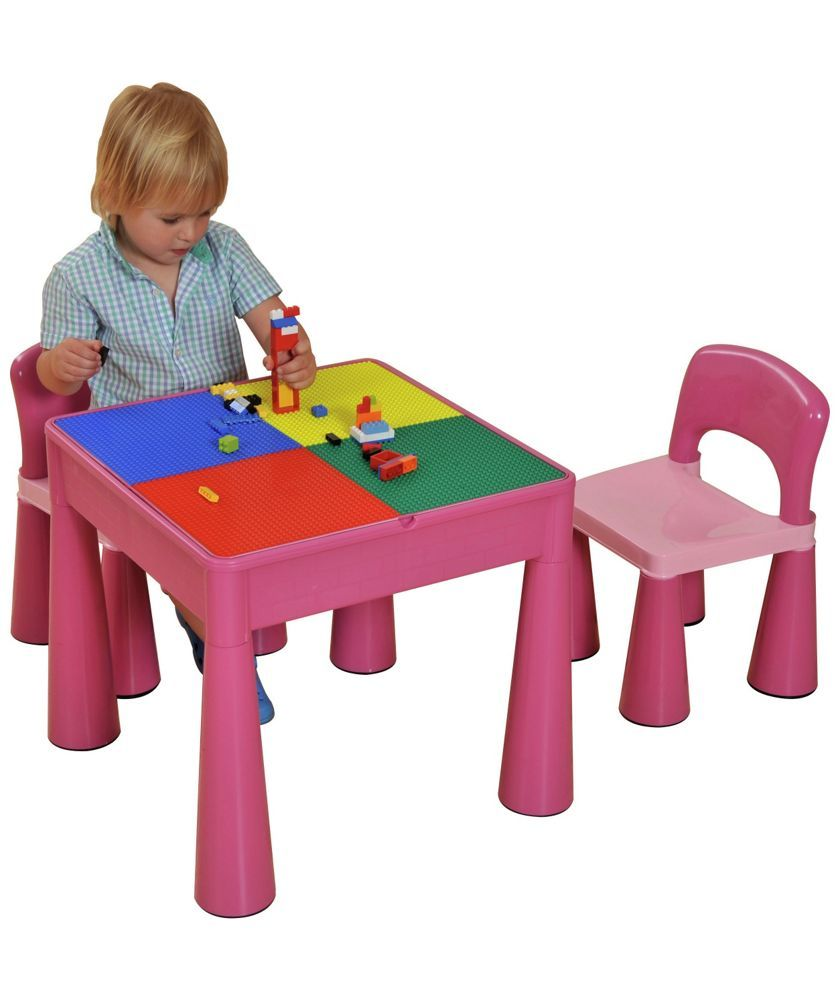 Dolls house at argos co uk your online shop for dolls houses dolls - Buy 5 In 1 Table And Chairs Writing Lego Top Sand Water