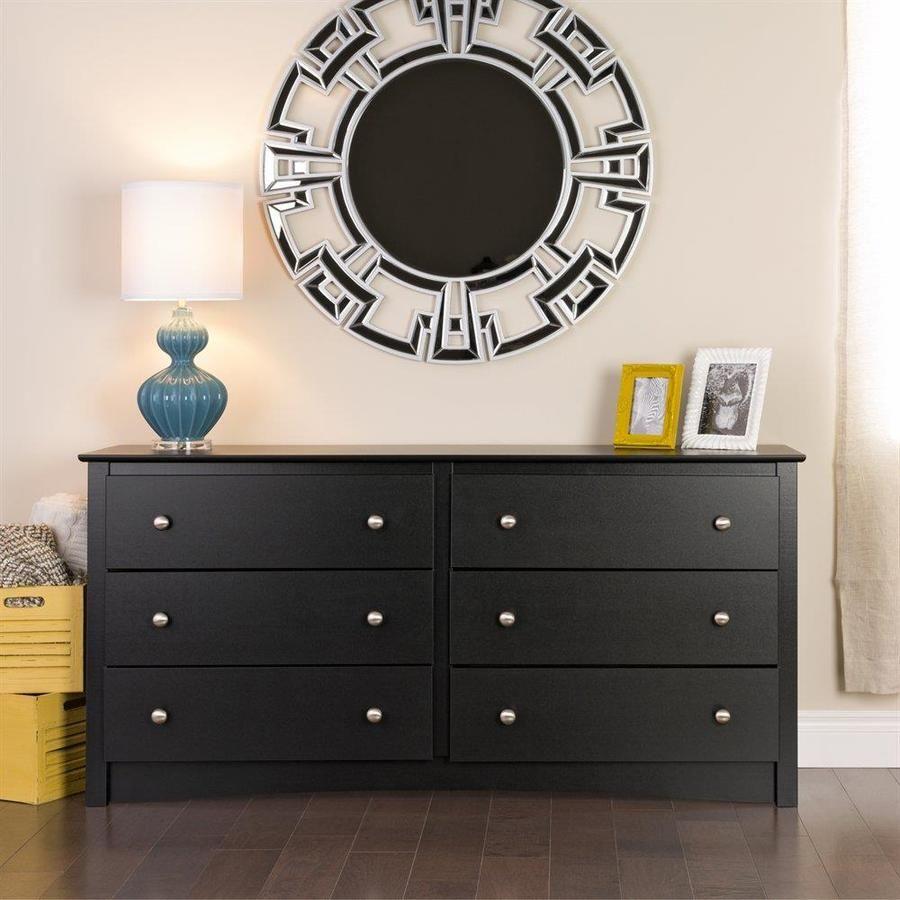 Prepac Sonoma Black 6 Drawer Standard Dresser Lowes Com 6 Drawer Dresser Six Drawer Dresser Black Dressers [ 900 x 900 Pixel ]