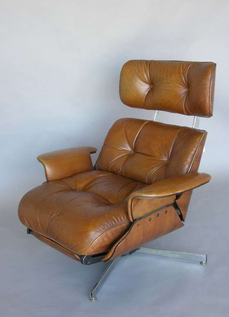 Mid Century Leather Recliner Leather Recliner Recliner Leather