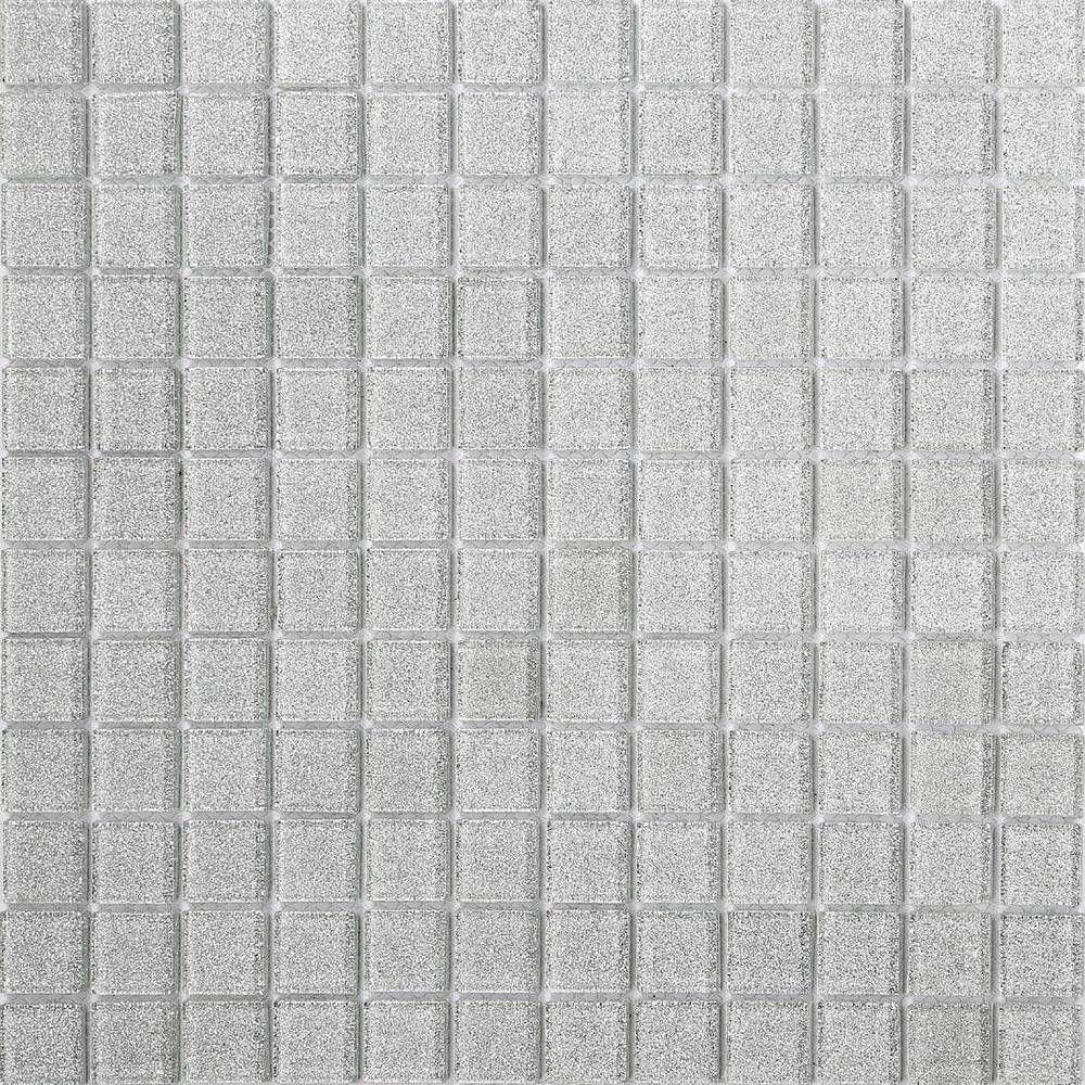 Silver Glitter Glass Mosaic Wall Tiles Bathroom Shower Splashback ...