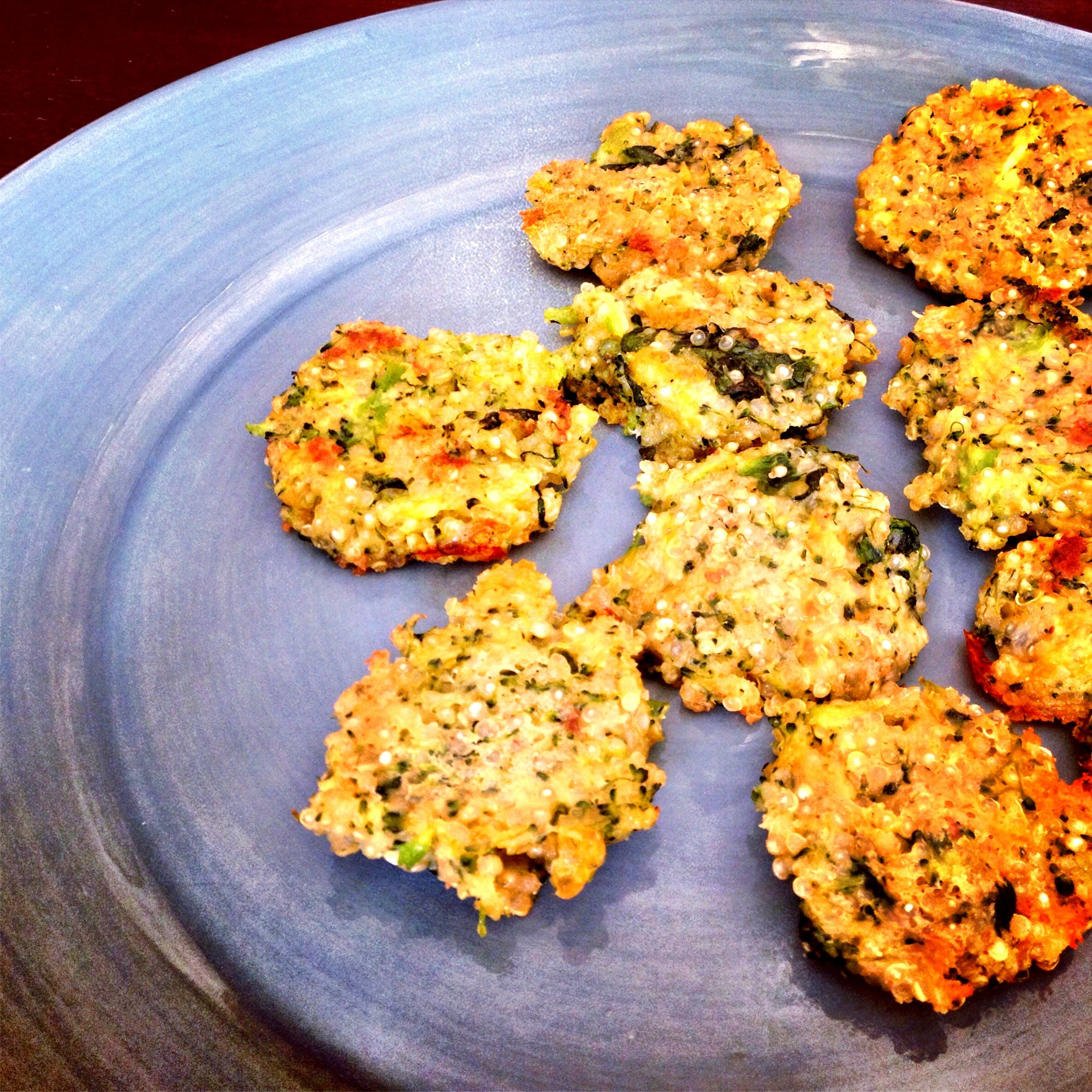 Quinoa Patties With Broccoli And Spinach Perfect Snack For