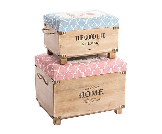Set de 2 cajas de madera DM Moto Muebles Pintados Pinterest - muebles diy