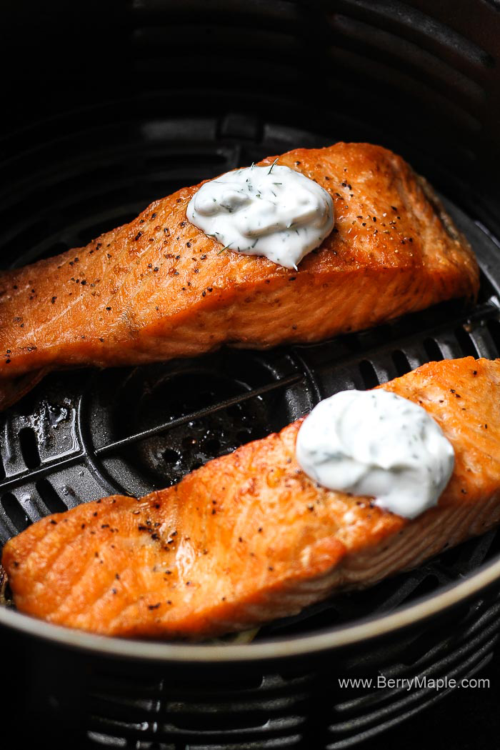 Perfect Air Fryer Salmon Fillet Cooked From Fresh Or