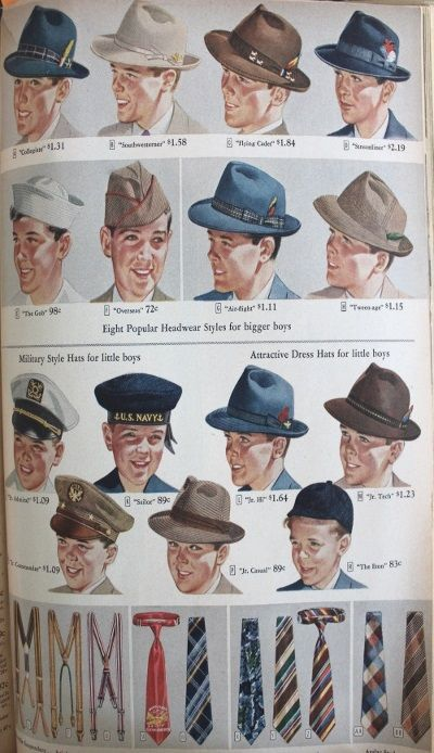 1940s Teenage Fashion for Boys and Young Men