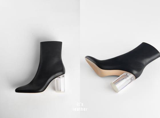 In 2018 Stivaletto Nel Z A Trasparente Tacco R Pelle Con Zara U77vwqnFgd