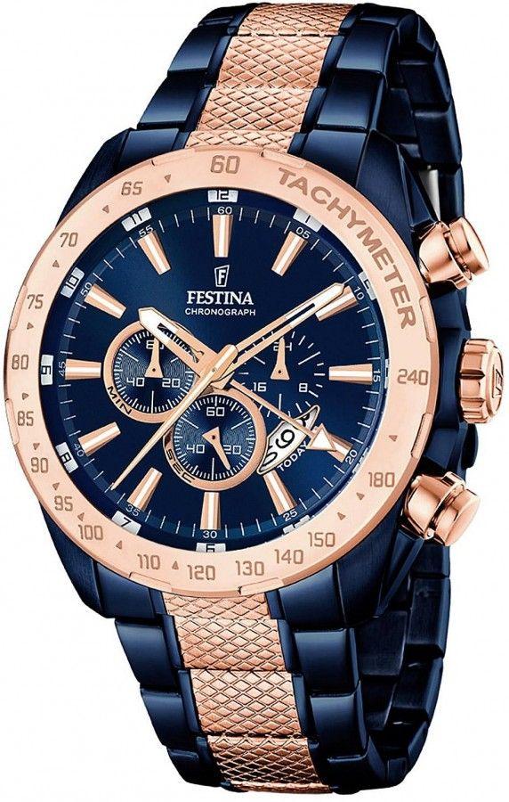 Festina Herren-Chronograph F6860 2 – braune Herrenuhr im stilvollen  Business-Style  e0c1718d15