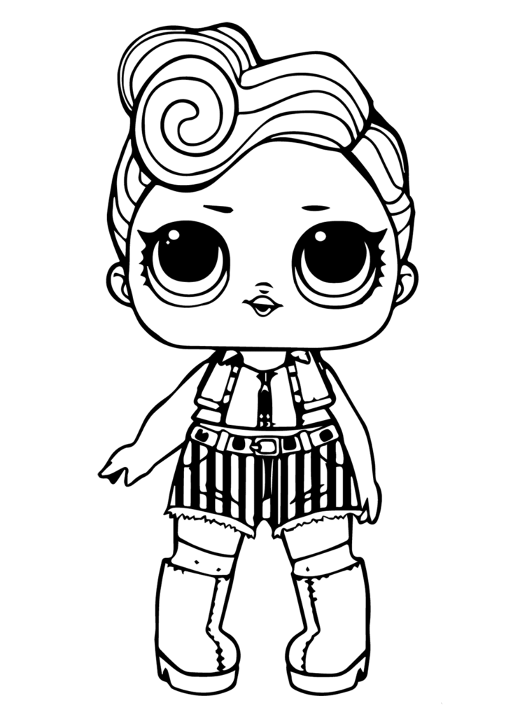 Printable Lol Doll Coloring Sheets Funky Q T Coloring Pages Coloring Pages For Kids Cartoon Coloring Pages