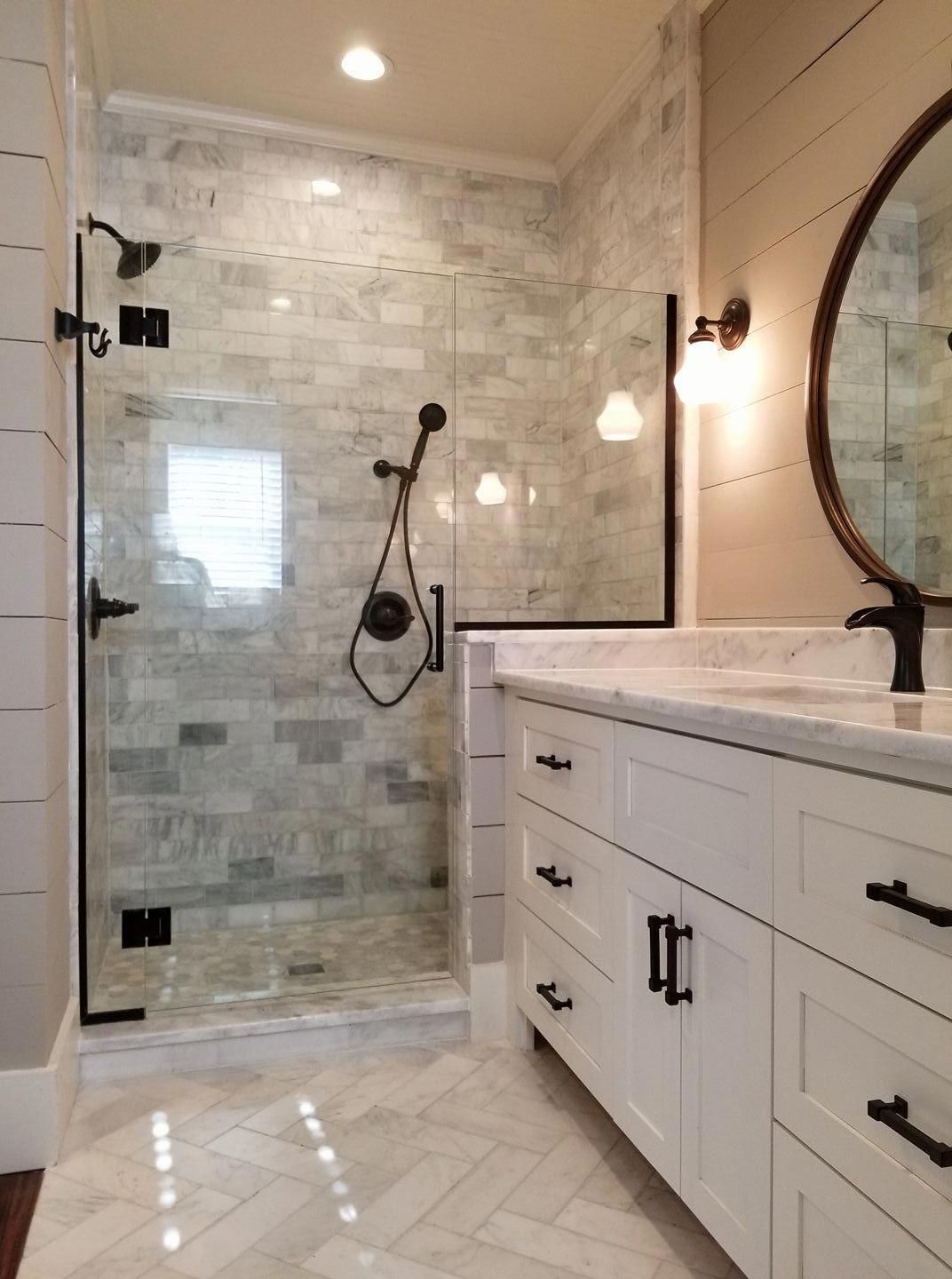 Photo of The main bathroom was added as part of a house from 1912 where we …