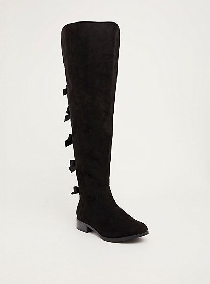 Bow Back Over-the-Knee Boots (Wide Width & Wide Ca