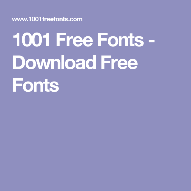 1001 Free Fonts - Download Free Fonts | Typography | Free fonts